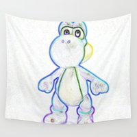 yoshi Wall Tapestries featuring Yoshi by Beastie Toyz