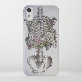 Floral Anatomy Skeleton iPhone Case