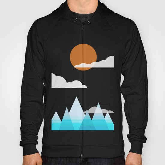 Sun, Clouds and Mountains Hoody