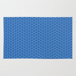 Blue icy and snowy conceptional background pattern Rug