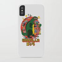 godzilla iPhone & iPod Cases featuring GODZILLA by Katboy 7