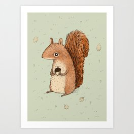 Sarah the Squirrel Art Print
