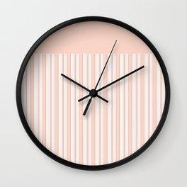 Blush , peach 12 Wall Clock