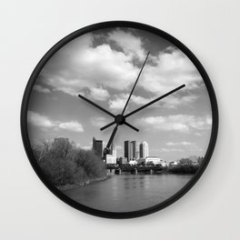 Columbus Ohio 2 - B&W Wall Clock