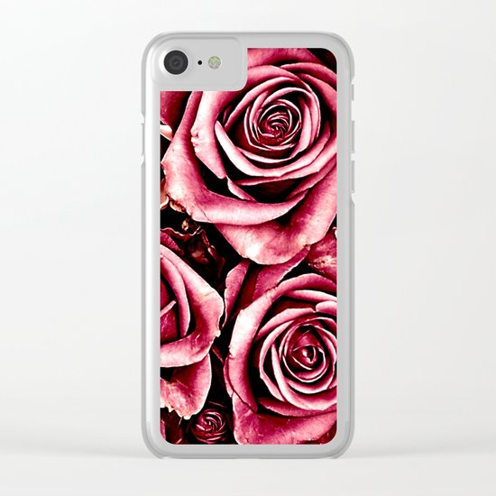 Vintage roses(4) Clear iPhone Case