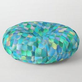 Summer Ocean Metal Mermaid Scales Floor Pillow