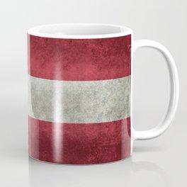 Flag of Austria - worn vintage style Coffee Mug