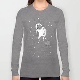 Space Cat Proves String Theory Exists Long Sleeve T-shirt