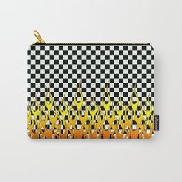 CHECKERED FLAMES Carry-All Pouch