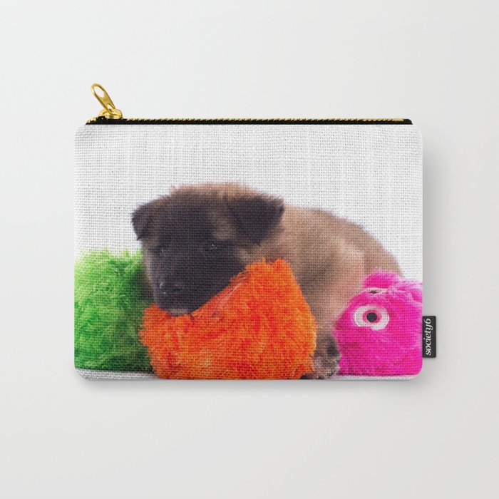 Puppy with colored toys Carry-All Pouch