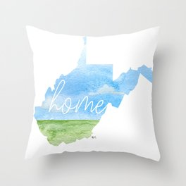 West Virginia Home State Throw Pillow