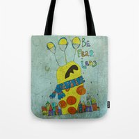 monster Tote Bags featuring Monster by Catru