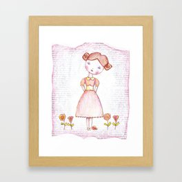 Miss Contrary Framed Art Print