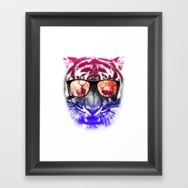 cool tiger  Framed Art Print