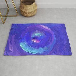 Purple, Blue and Turquoise Abstract Mandala 1660 Rug