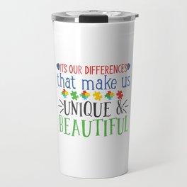 World Autism Awareness Day Gift Autism Gift Idea Travel Mug