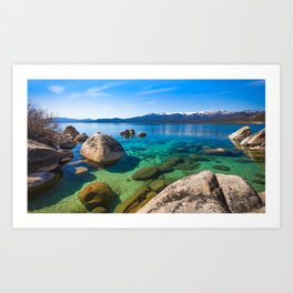 Let's Jump In At Sand Harbor, Lake Tahoe Art Print
