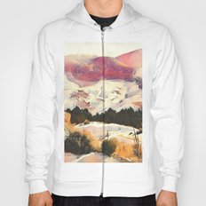 A Winter of Pink Gold Hills by CheyAnne Sexton Hoody