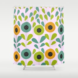Cheery spring flowers Shower Curtain
