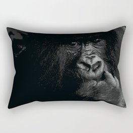 Silver Back Rectangular Pillow