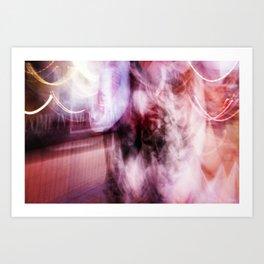 the pink sunday dress Art Print