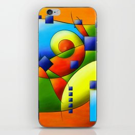Fantisimella - colourful birdy abstract iPhone Skin