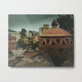 Kathmandu City Roof Tops - Architecture 04 Metal Print