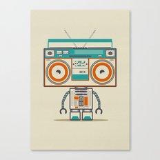 Music robot Canvas Print