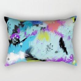 Hues Of Bright Abstract Watercolor Rectangular Pillow