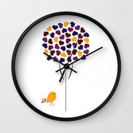 Blooming Hearts Wall Clock