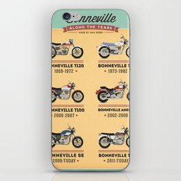 Bonneville Along the Years iPhone Skin