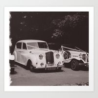 Wedding Cars Art Print