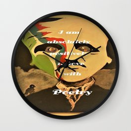 Poe, I am aboslutely, positively in love with Poetry Wall Clock