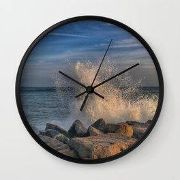 Sunset spray Wall Clock