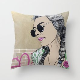 Not Your Babe Throw Pillow