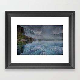 Frozen Falls Niagara Framed Art Print