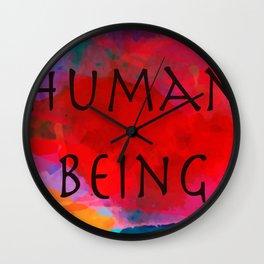 Human being- Pride Wall Clock