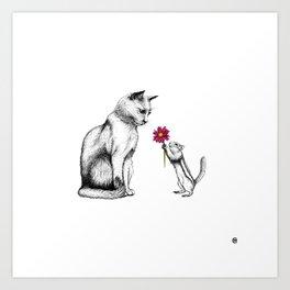 Doting Chipmunk Art Print