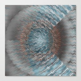 Abstract blue grey Canvas Print