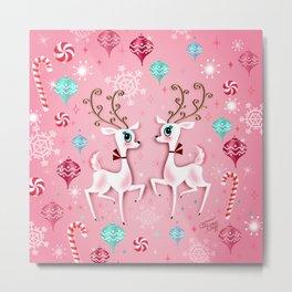 Cute Christmas Reindeer Metal Print