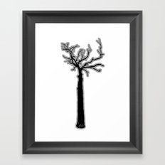 Black & White Tree's Framed Art Print
