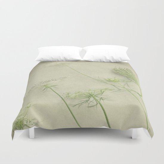 Queen Anne's Lace Flower Duvet Cover