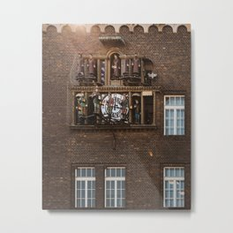 Amazing musical clock in Szeged, Hungary / Details Metal Print