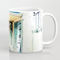 rustic Mugs featuring Rustic by Kim Ramage
