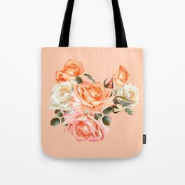 Modern Victorian Roses Tote Bag