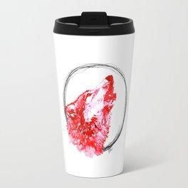 Red Wolf - Print Travel Mug