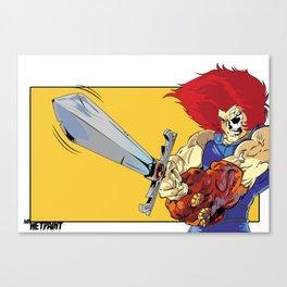 Lion-O x MrWetpaint Canvas Print