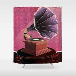 Phonograph  Shower Curtain