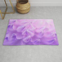Pearl Petal Kiss | pink flower, pastel flowers, purple floral pattern, cute dahlia petals, macro Rug