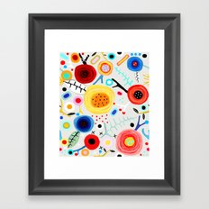 Amazing floral handmade drawing Framed Art Print